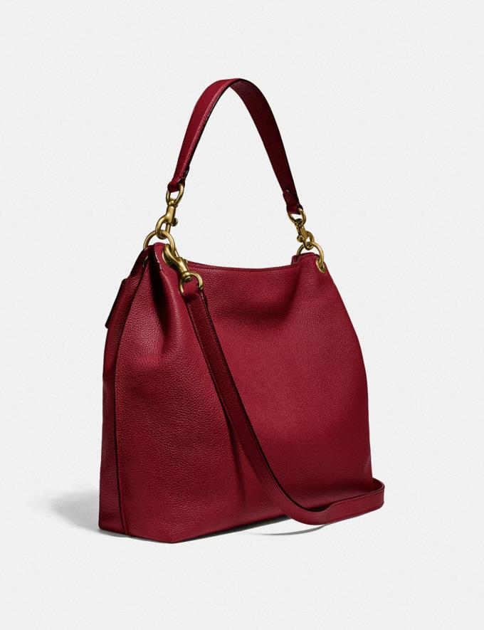 Coach Tabby Hobo Brass/Deep Red Gifts For Her Bestsellers Alternate View 1