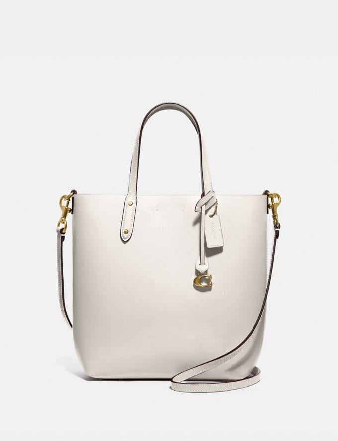 Coach Central Shopper Tote Gold/Kreide Damen Taschen Totes