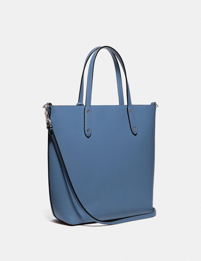 Coach Central Shopper Tote Gunmetal/Stone Blue Women Handbags Diaper Bags Alternate View 1
