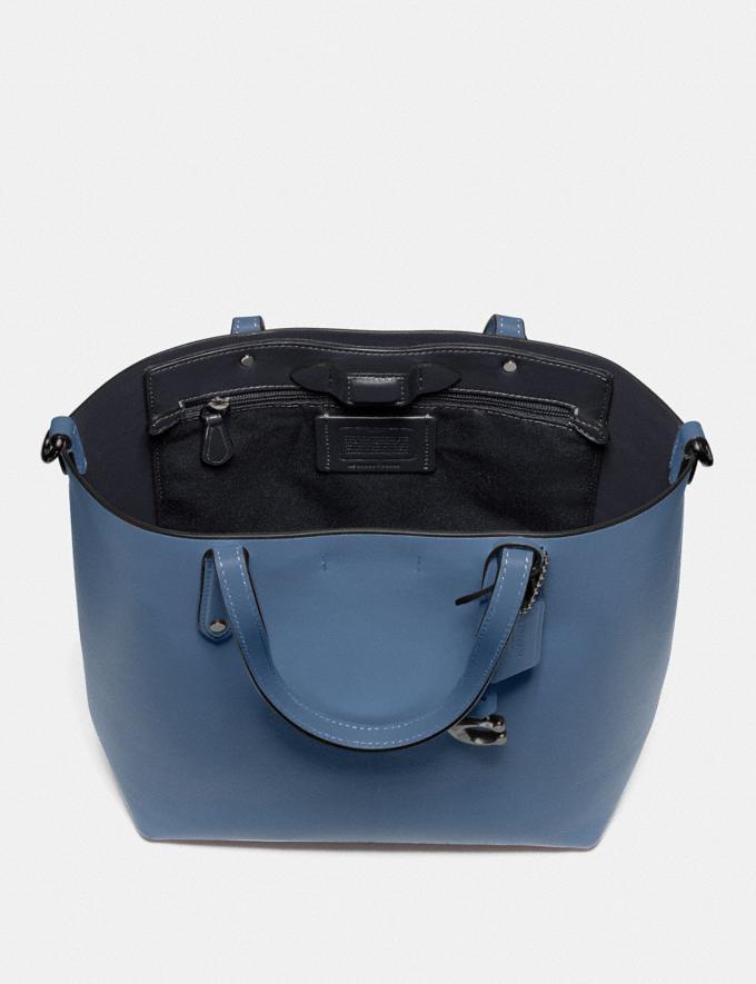 Coach Central Shopper Tote Gunmetal/Stone Blue Women Handbags Diaper Bags Alternate View 3