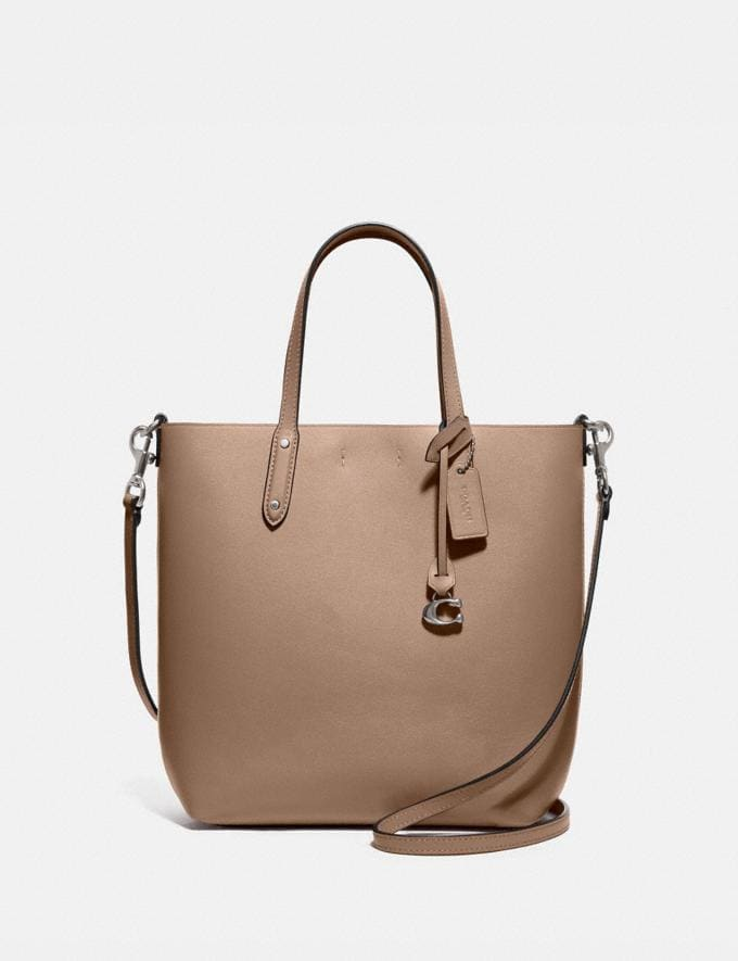 Coach Central Shopper Tote Lh/Taupe Women Bags Totes