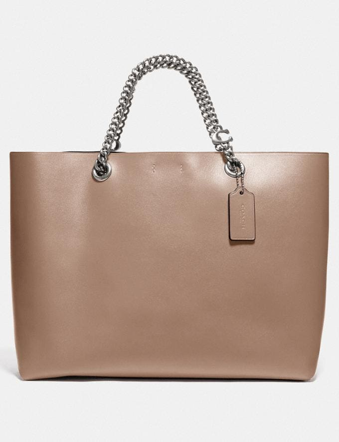 Coach Signature Chain Central Tote Lh/Taupe New Women's New Arrivals