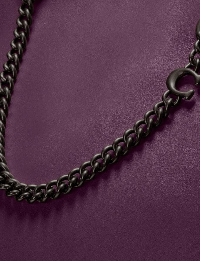 Coach Signature Chain Central Tote Pewter/Boysenberry Women Edits Work Alternate View 4