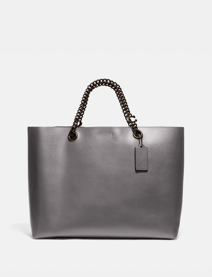 Coach Signature Chain Central Tote V5/Heather Grey New Featured Signature Styles