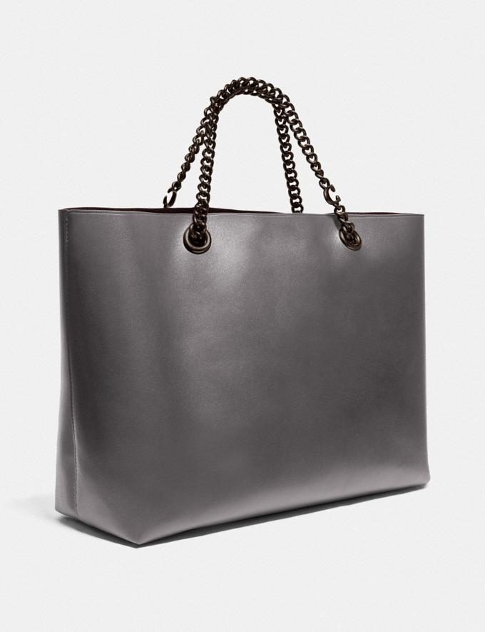 Coach Signature Chain Central Tote V5/Heather Grey New Featured Signature Styles Alternate View 1