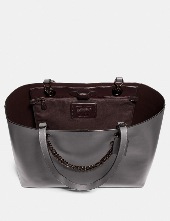 Coach Signature Chain Central Tote V5/Heather Grey New Featured Signature Styles Alternate View 2