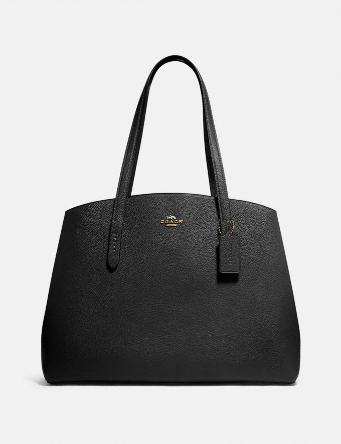 Coach Charlie Carryall 40 Gd/Black SALE Private Event Women's