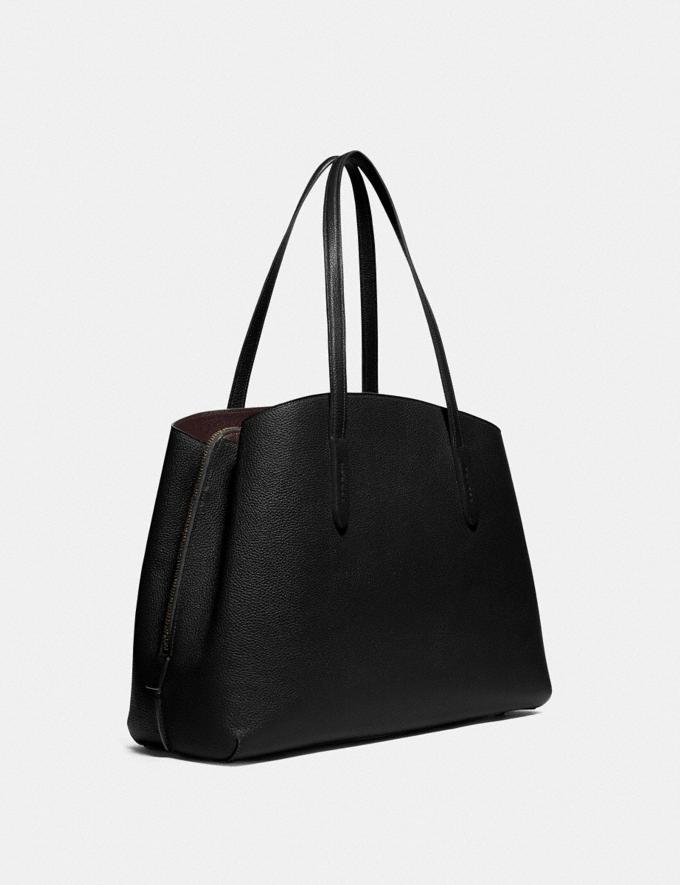 Coach Charlie Carryall 40 Gd/Black SALE Private Event Women's Alternate View 1