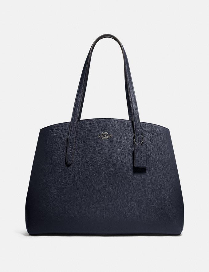 Coach Charlie Carryall 40 Sv/Midnight Navy Women Bags Satchels