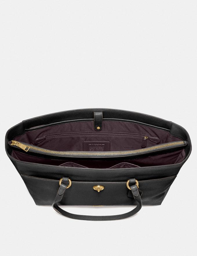 Coach Folio Tote Gold/Black Women Handbags Alternate View 3