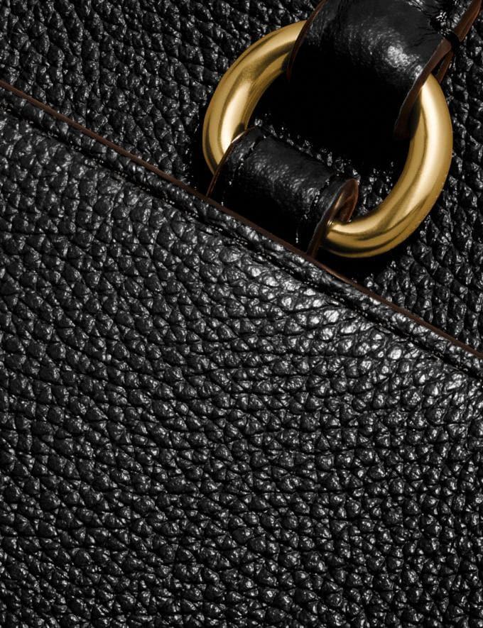 Coach Folio Tote Gold/Black Women Handbags Alternate View 5