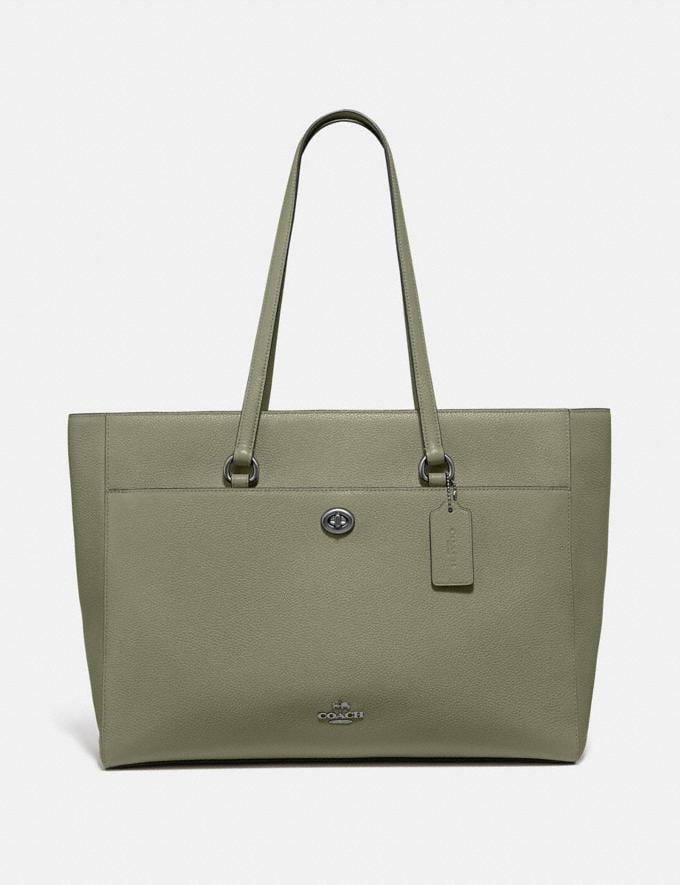 Coach Folio Tote Pewter/Light Fern SALE Women's Sale New to Sale