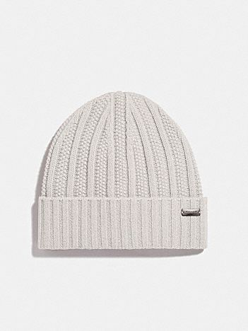 cashmere seed stitch knit hat