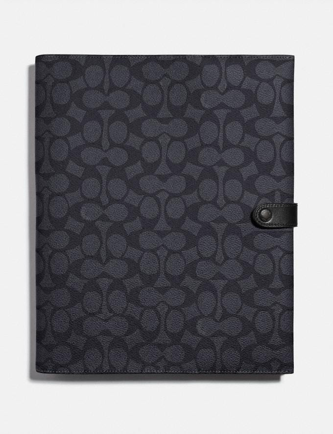 Coach Tech Portfolio in Signature Canvas Charcoal Women Collection Signature