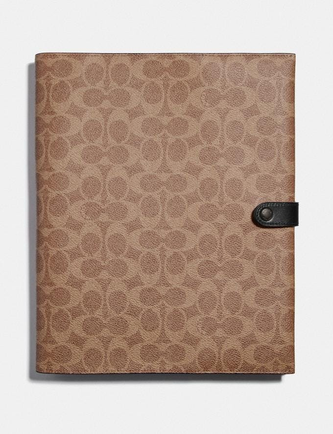Coach Tech Portfolio in Signature Canvas Khaki Gifts Holiday Shop Tech Gifts