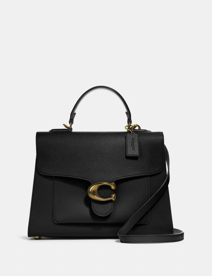 Coach Tabby Top Handle Black/Brass Women Bags Satchels