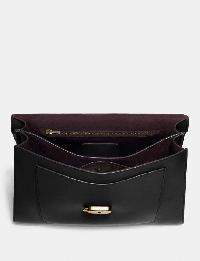 Coach Tabby Top Handle Black/Brass Personalise For Her Bags Alternate View 2