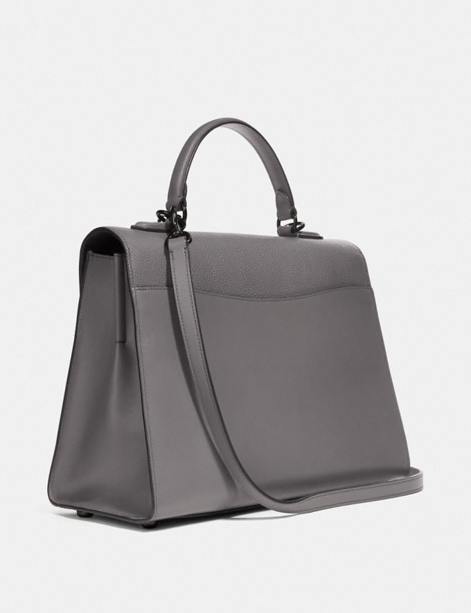 Coach Tabby Top Handle Grau Meliert/Zinn Neu Kooperationen Nur online Alternative Ansicht 1