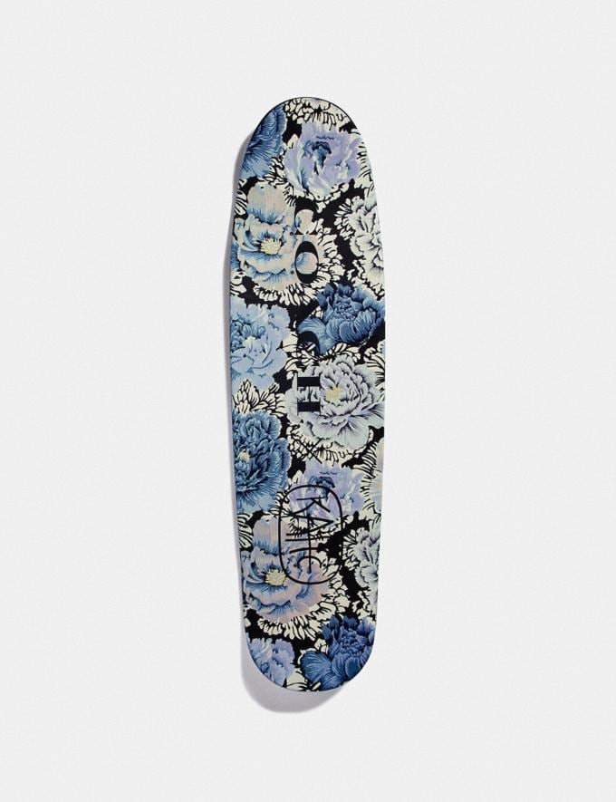 Coach Skateboard With Kaffe Fassett Print Black/Blue New Women's New Arrivals Collection