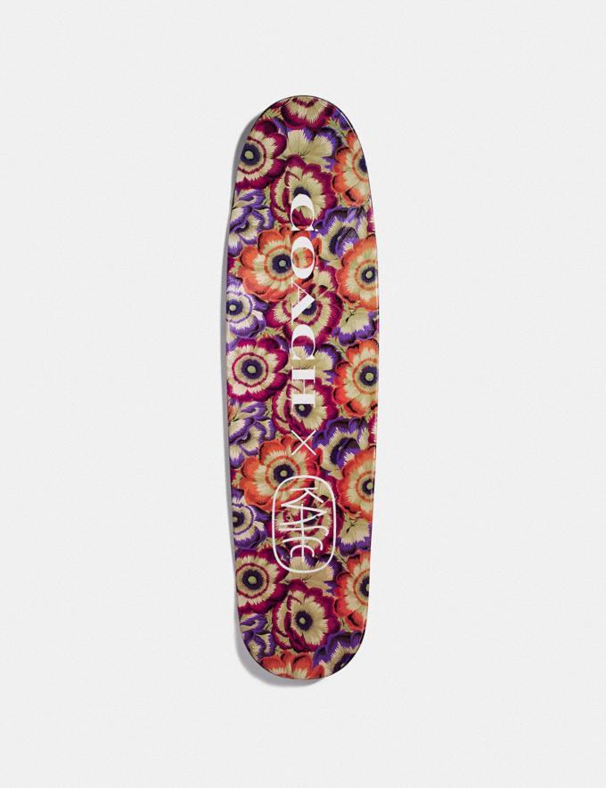 Coach Skateboard With Kaffe Fassett Print Orange/Purple New Men's New Arrivals Accessories