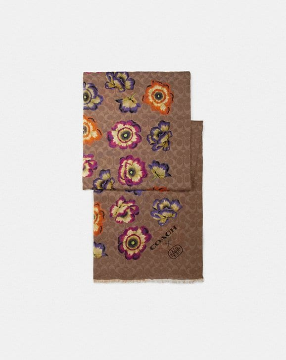 Coach OBLONG SCARF WITH KAFFE FASSETT PRINT