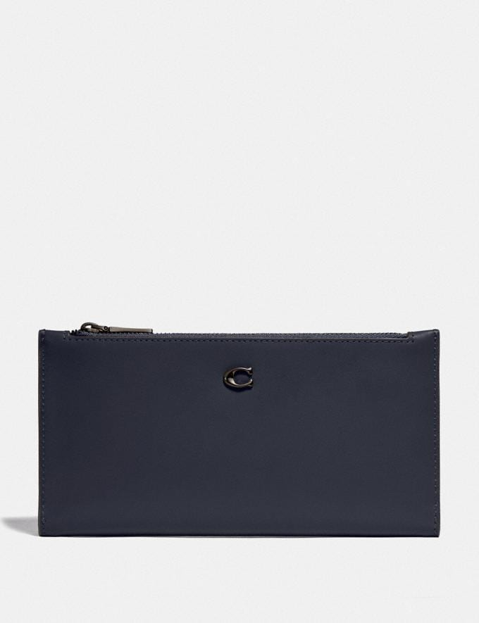 Coach Double Snap Wallet V5/Midnight Navy New Women's New Arrivals