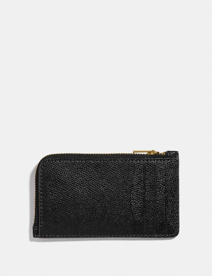 Coach Small L-Zip Card Case Gd/Black  Alternate View 1