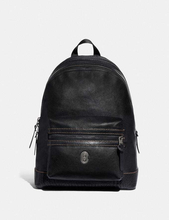 Coach Academy Backpack With Coach Patch Black/Light Antique Nickel New Men's New Arrivals