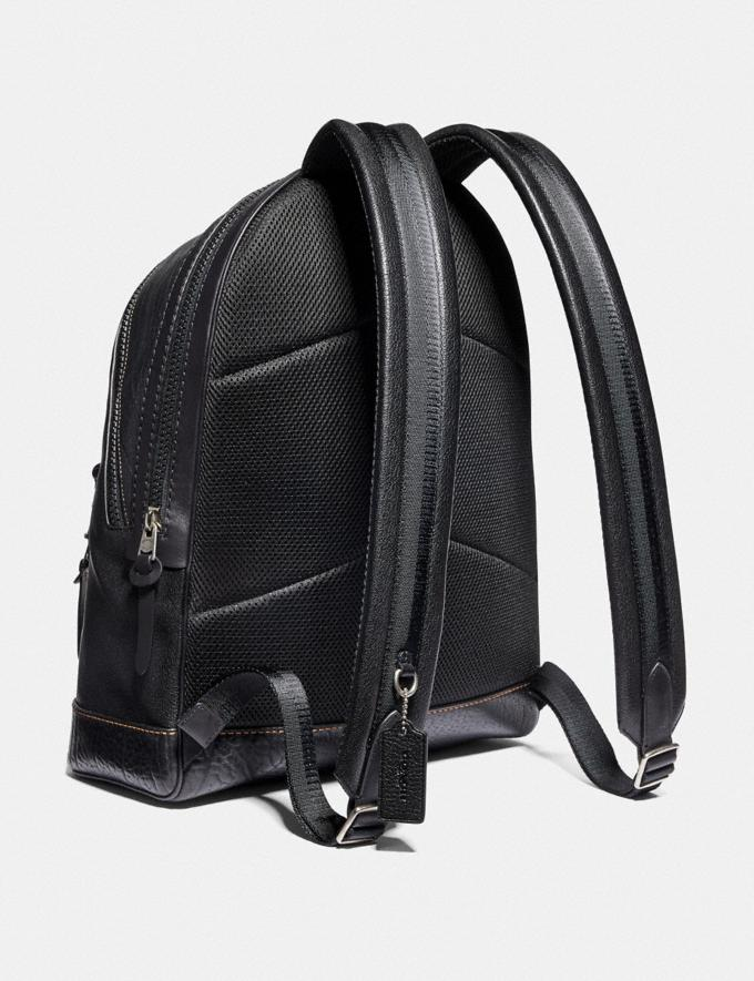 Coach Academy Backpack With Coach Patch Black/Light Antique Nickel Men Bags Backpacks Alternate View 1