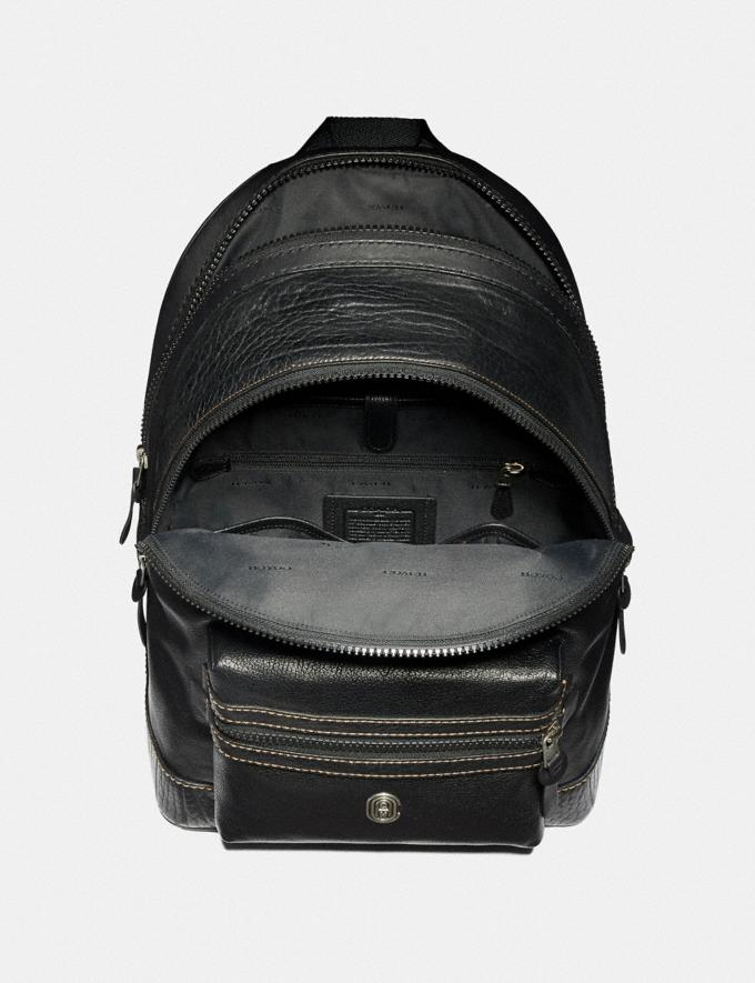 Coach Academy Backpack With Coach Patch Black/Light Antique Nickel New Men's New Arrivals Alternate View 2