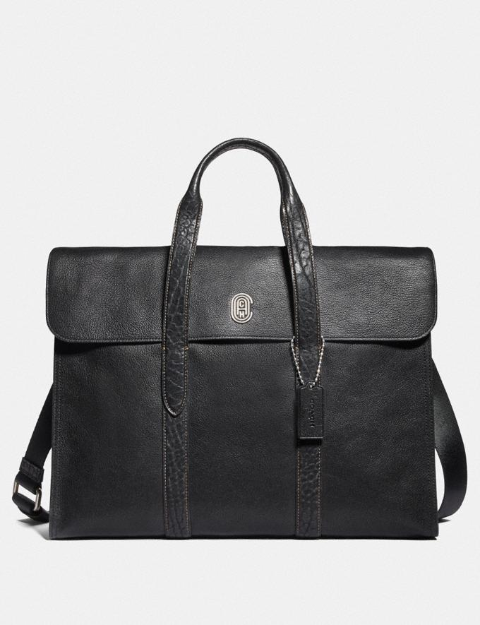 Coach Metropolitan Portfolio With Coach Patch Black/Light Antique Nickel Cyber Monday Men's Cyber Monday Sale Bags