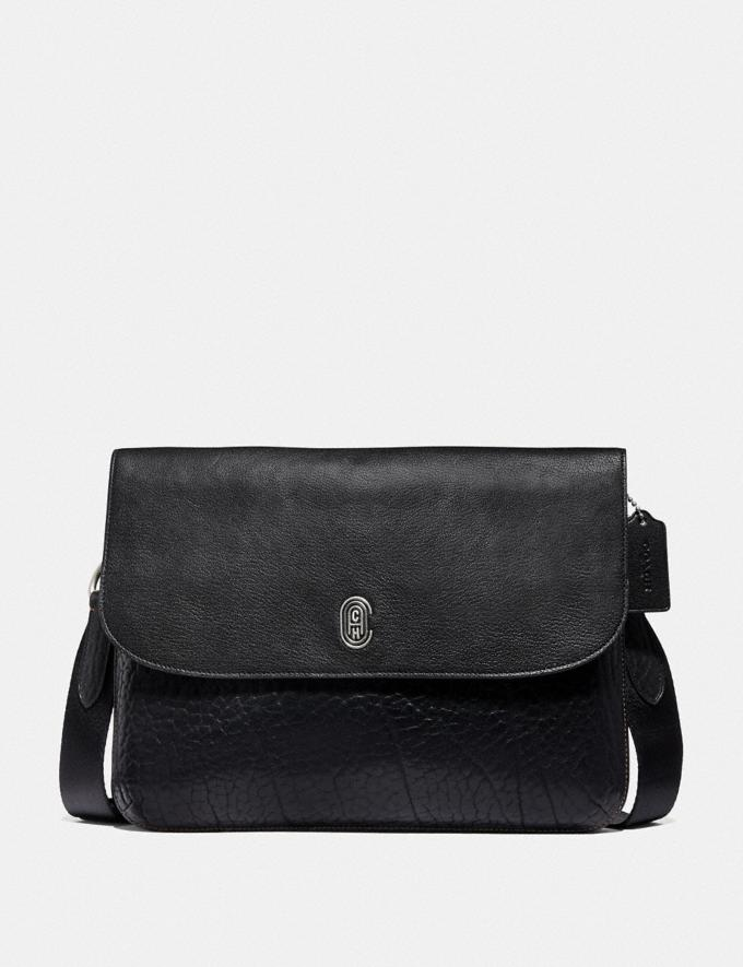 Coach Metropolitan Soft Flap Messenger With Coach Patch Black/Light Antique Nickel New Men's New Arrivals