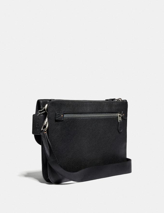 Coach Metropolitan Soft Flap Messenger With Coach Patch Black/Light Antique Nickel New Men's New Arrivals Alternate View 1