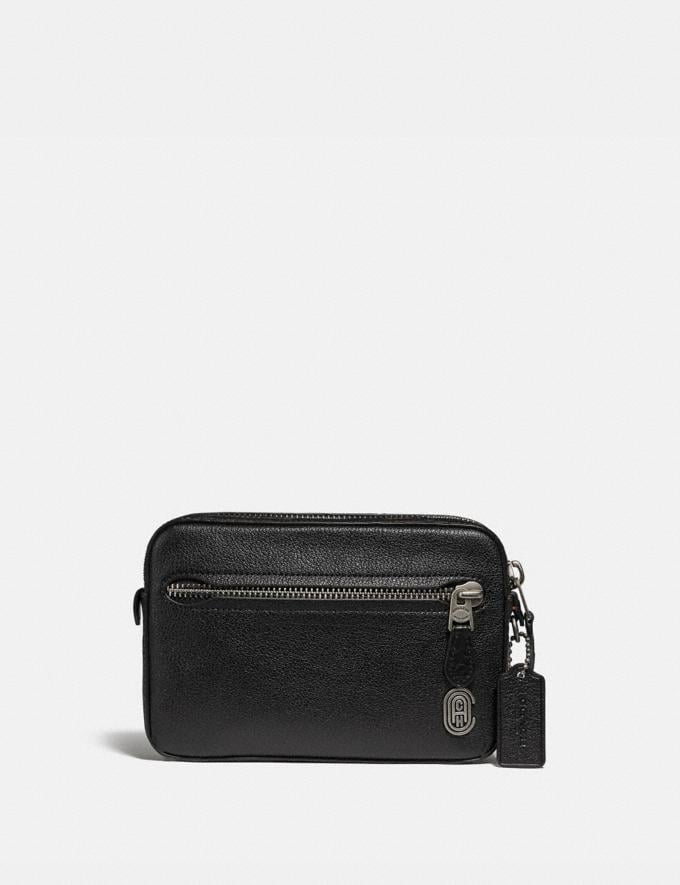 Coach Metropolitan Soft Belt Bag With Coach Patch Black/Light Antique Nickel Cyber Monday Men's Cyber Monday Sale Bags