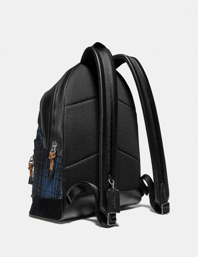 Coach Academy Backpack With Coach Patch Blue/Black/Light Antique Nickel Cyber Monday Men's Cyber Monday Sale Bags Alternate View 1