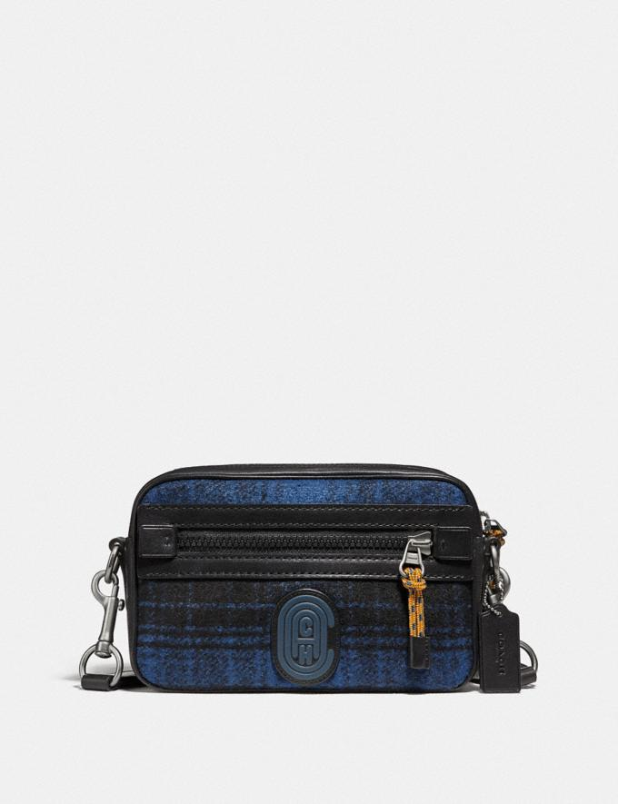 Coach Academy Crossbody With Coach Patch Blue/Black/Light Antique Nickel New Men's New Arrivals