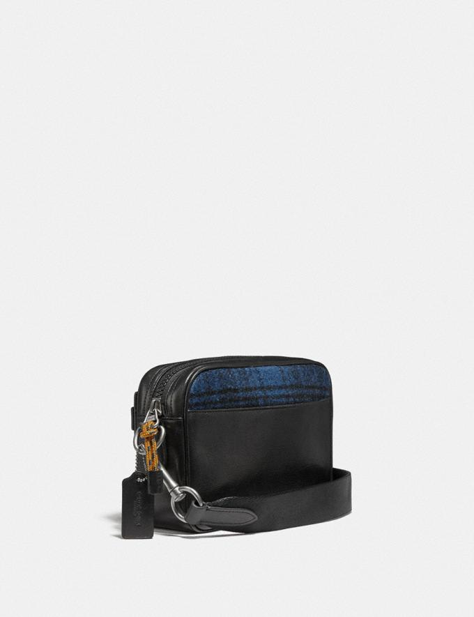 Coach Academy Crossbody With Coach Patch Blue/Black/Light Antique Nickel New Men's New Arrivals Alternate View 1