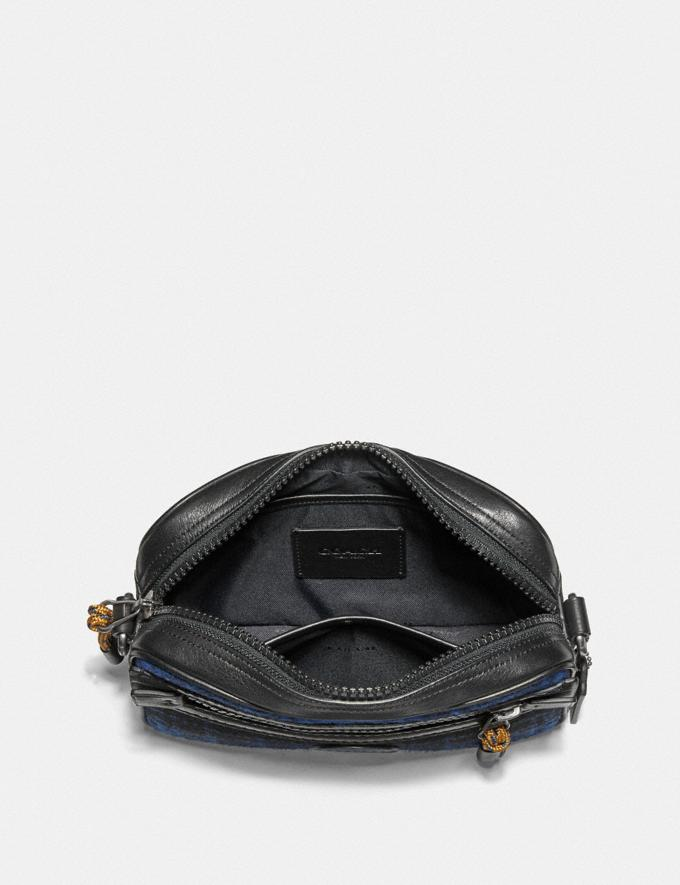 Coach Academy Crossbody With Coach Patch Blue/Black/Light Antique Nickel New Men's New Arrivals Alternate View 2