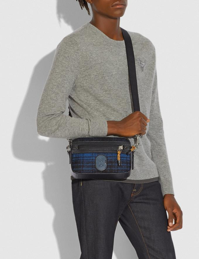 Coach Academy Crossbody With Coach Patch Blue/Black/Light Antique Nickel New Men's New Arrivals Alternate View 3