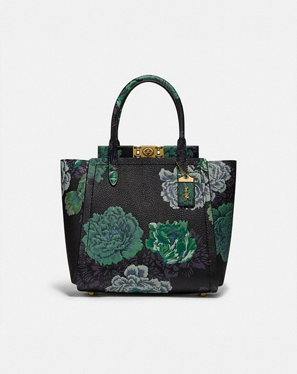 Coach TROUPE TOTE WITH KAFFE FASSETT PRINT