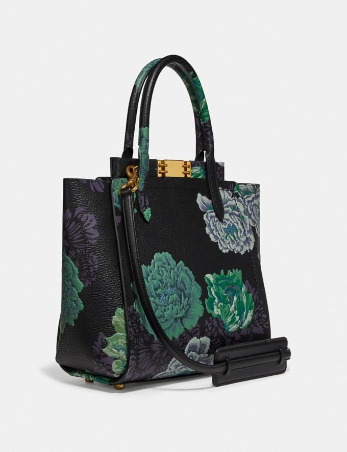 Coach Troupe Tote With Kaffe Fassett Print Green Multi/Brass Women Collection Troupe Alternate View 1