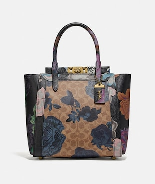 TROUPE TOTE IN SIGNATURE CANVAS WITH KAFFE FASSETT PRINT