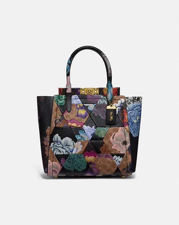 Coach TROUPE TOTE IN SIGNATURE CANVAS WITH PATCHWORK KAFFE FASSETT PRINT