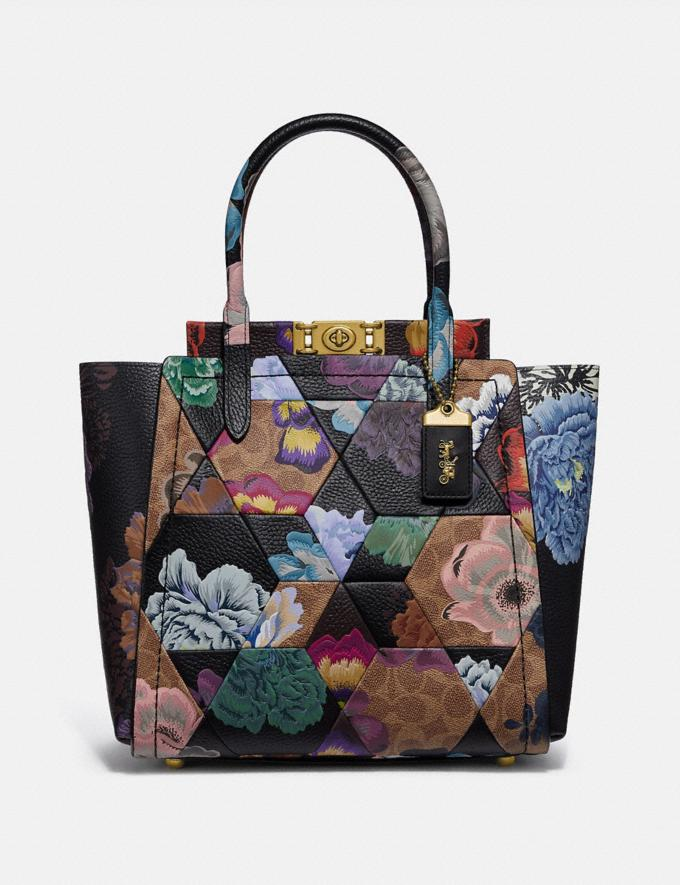 Coach Troupe Tote in Signature Canvas With Patchwork Kaffe Fassett Print Tan Multi/Brass Cyber Monday Women's Cyber Monday Sale Bags