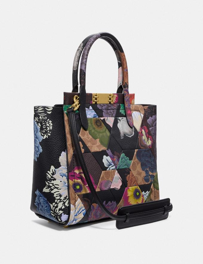 Coach Troupe Tote in Signature Canvas With Patchwork Kaffe Fassett Print Tan Multi/Brass Cyber Monday Women's Cyber Monday Sale Bags Alternate View 1