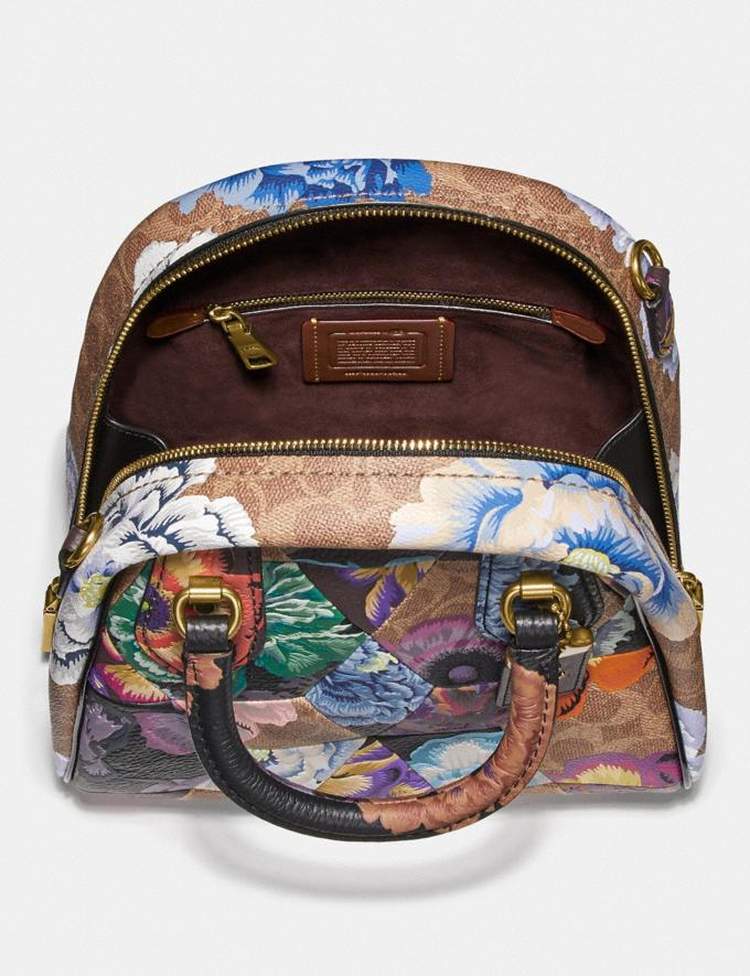 Coach Marleigh Satchel in Signature Canvas With Patchwork Kaffe Fassett Print Tan Multi/Brass Women Handbags Satchels & Carryalls Alternate View 2