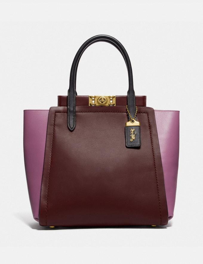 Coach Troupe Tote in Colorblock Brass/Cranberry Multi New Featured Women New Top Picks