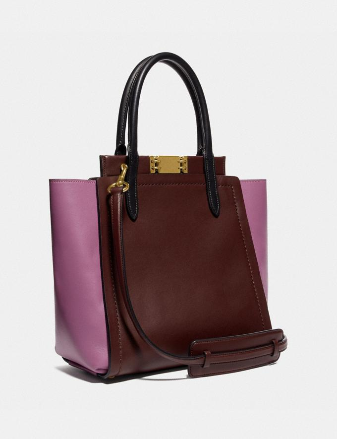 Coach Troupe Tote in Colorblock Brass/Cranberry Multi New Featured Women New Top Picks Alternate View 1