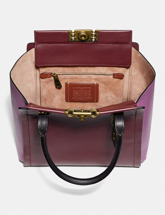 Coach Troupe Tote in Colorblock Brass/Cranberry Multi New Featured Women New Top Picks Alternate View 2