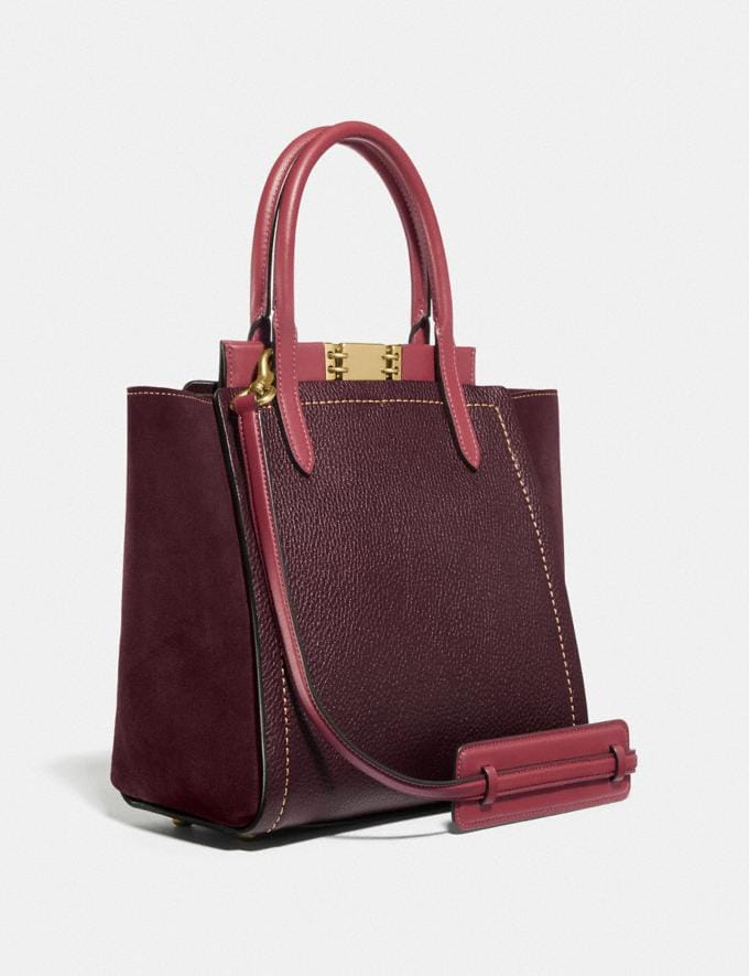 Coach Troupe Tote in Colorblock Vintage Mauve Multi/Brass Personalise For Her Alternate View 1